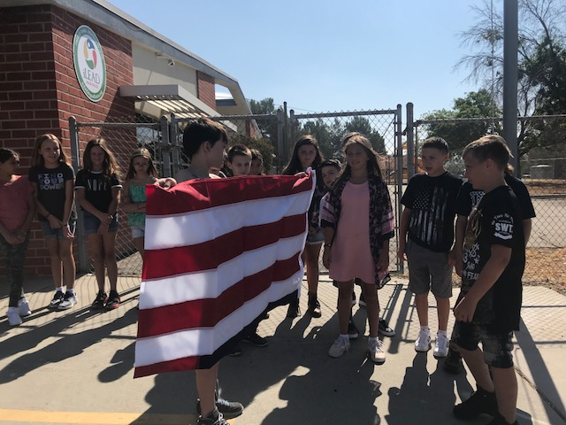 iLEAD Agua Dulce Flag Ceremony