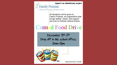 iLEAD Agua Dulce canned food drive