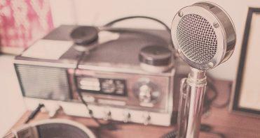microphone, radio, headphones