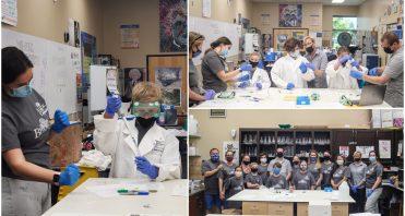 iLEAD Agua Dulce and iLEAD learners do experiments