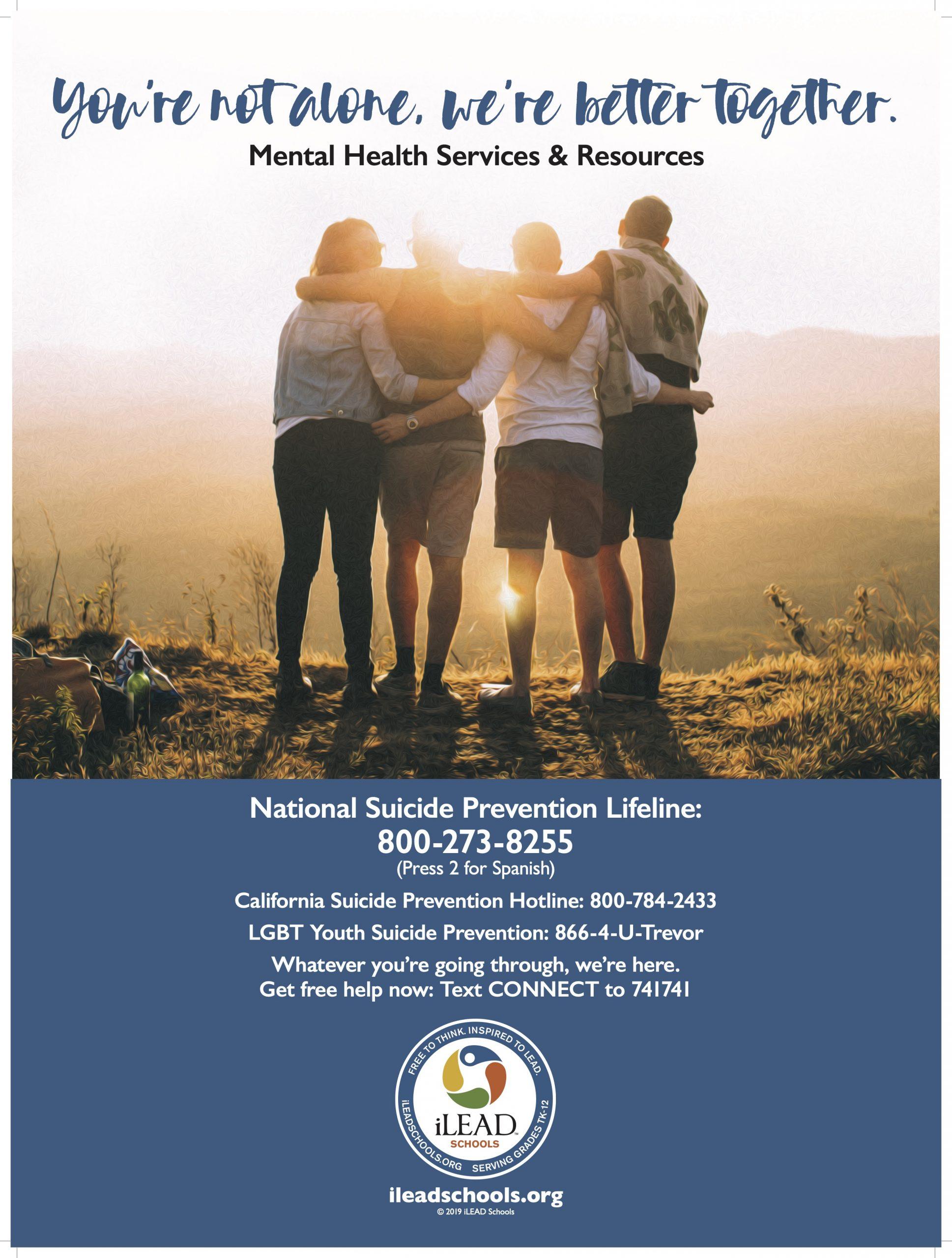 iLEAD Suicide Prevention Poster